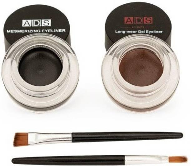 Pears ADS Eye Studio Long Wear Drama Black Brown Gel Eyeliner 3+3 = 6 g