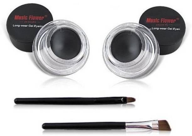 Music Flower Long Wear 24h Gel Eyeliner pack of 2 Black 6 g