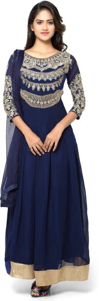 331a6ee7918 MF Retail Net Embroidered Semi-stitched Salwar Suit Dupatta Material