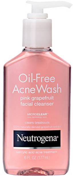 NEUTROGENA Oil-free Acne Wash Pink Grapefruit Facial Cleanser Face Wash
