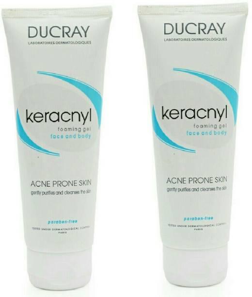 DUCRAY Keracnyl Foaming Gel - Pack of 2 Face Wash