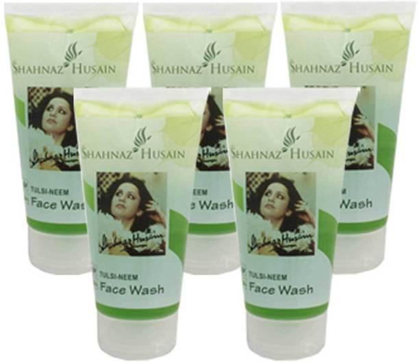 Shahnaz Husain Tulsi-Neem 50 Gm(Pack of 5) Face Wash