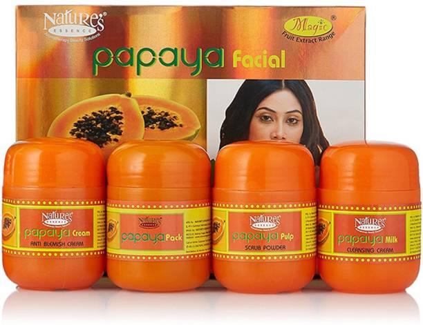 Nature's Essence Papaya Facial Kit - Mini Pack(180 g + Free 65 ml Face Wash)