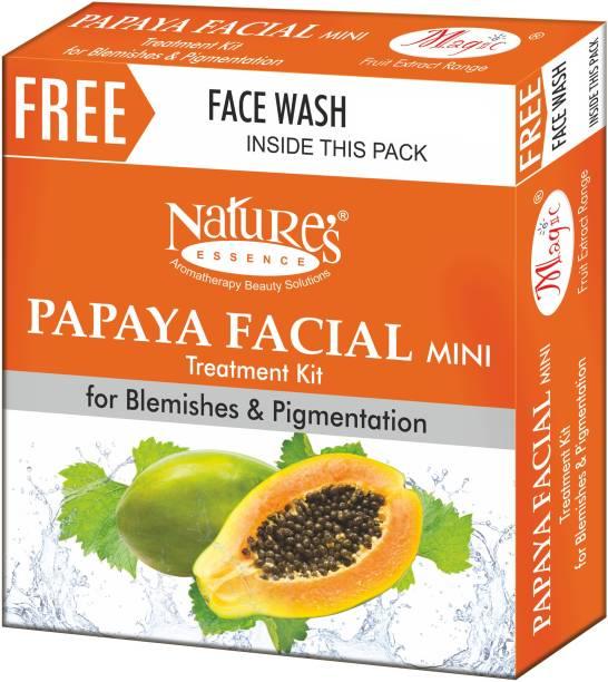 Nature's Essence Papaya Facial Kit 52g Free Face Wash