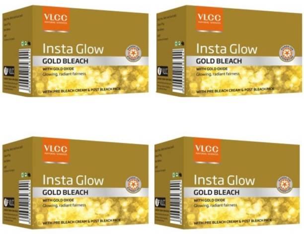 VLCC Insta Glow Gold Bleach Pack Of 4