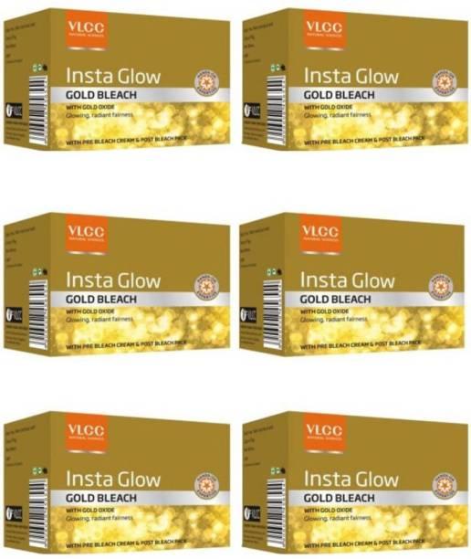 VLCC Insta Glow Gold Bleach Pack Of 6