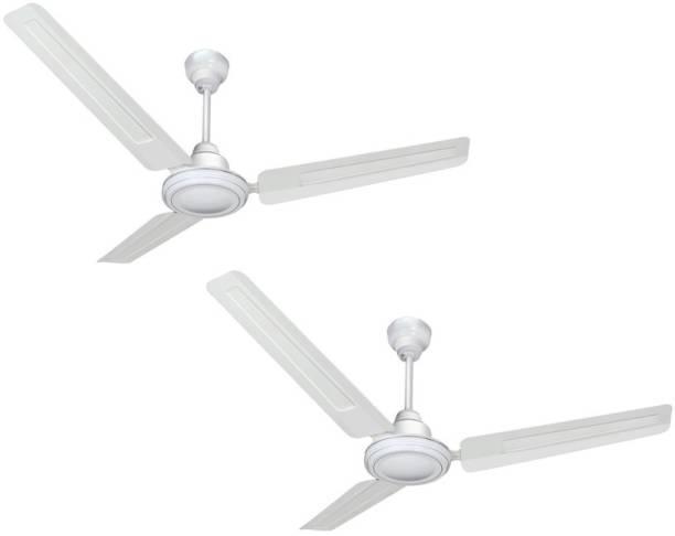 Sameer Gati pack of 2 white 1200 mm 3 Blade Ceiling Fan