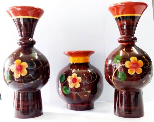 VROY@LS PRIDE pot combo 1 Wooden Flower Basket without Artificial Flower & Plant