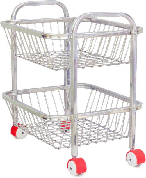 Maharaja Small 2tier Stainless Steel Kitchen Trolley