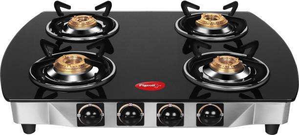 Pigeon Blackline Oval Glass, Stainless Steel Manual Gas Stove