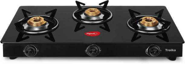 Pigeon Troika Rectangle Glass, Stainless Steel Manual Gas Stove