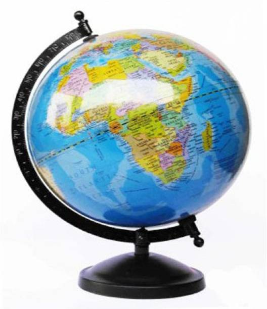 Globes buy globes online at best prices in india flipkart efficient laminated with metal base desk and table top political world globe gumiabroncs Gallery