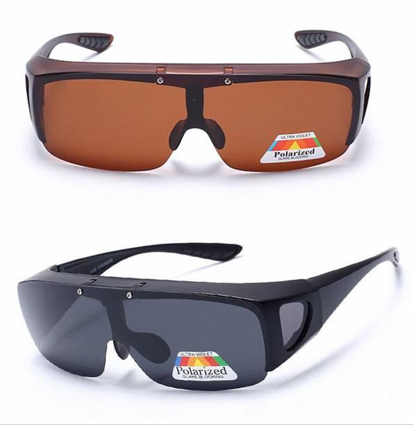 bf79ce8cc779 Wonder World ™ Fashion Night Vision™ Unisex HD Driving Sunglasses Cool Over Wrap  Around Glasses