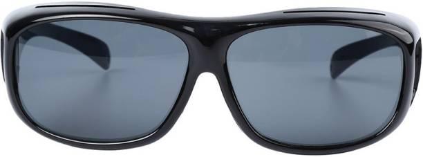 7bc63ab93402 VibeX ™ Hd Vision Wrap Around Sunglasses Fits Over Your Prescription Glasses  Sports Goggles