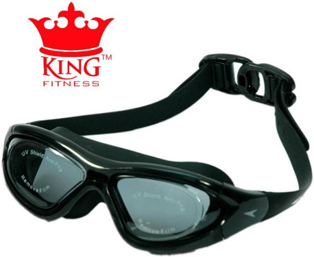 474980aa3d87 KING FITNESS PREMIUM QUALITY BROAD SIZE SLIP RESISTANCE UV PROTECT ANTI FOG Swimming  Goggles