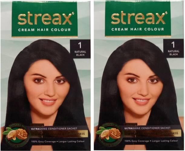 Streax Cream Natural Black 1, Pack of 2, , Natural Black