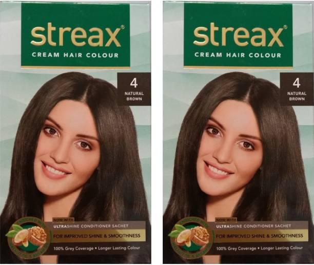 Streax Cream Natural Brown 4, Pack of 2 , Natural Brown