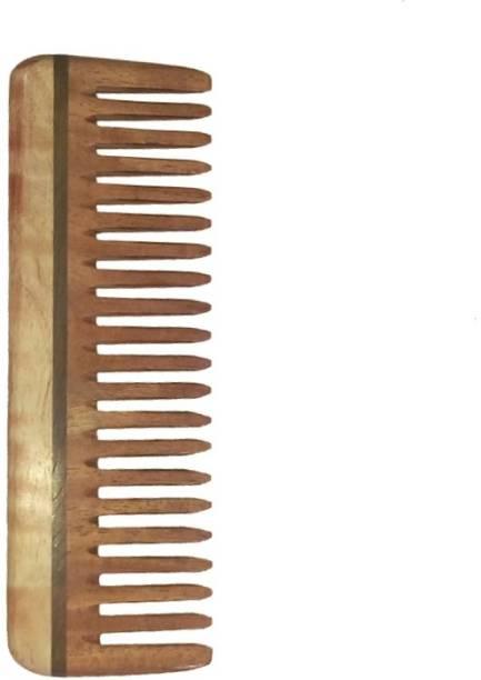 Ginni Marketing Ginni Medium Detangler Neem Wood Comb(6 inches)