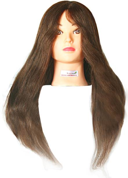 """Ritzkart 24"""" 100% Real Human Mannequin For Trainers / Spl For Dye /Tong / Braiding Hair Extension"""