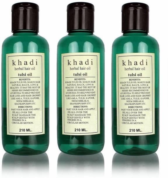 Khadi Herbal Tulsi Hair Oil