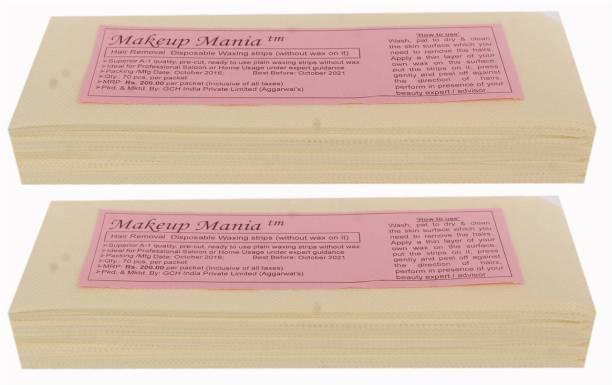 Makeup Mania Waxing Strips - Ivory-140 Pcs Strips