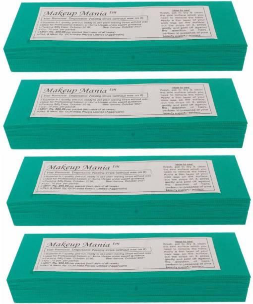Makeup Mania Waxing Strips - Green-280 Pcs Strips