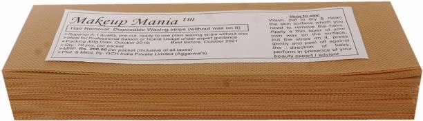 Makeup Mania Waxing Strips - Beige-70 Pcs Strips