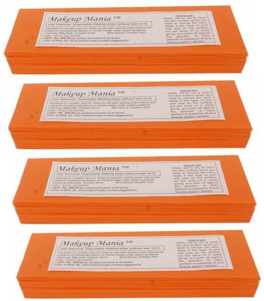 Makeup Mania Waxing Strips - Orange-280 Pcs Strips