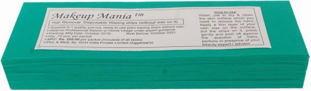 Makeup Mania Waxing Strips - Green-70 Pcs Strips