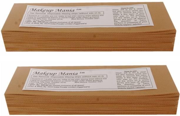 Makeup Mania Waxing Strips - Beige-140 Pcs Strips