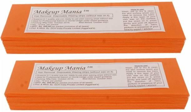 Makeup Mania Waxing Strips - Orange-140 Pcs Strips