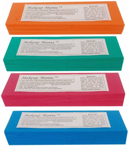 Makeup Mania Waxing Strips - Multi-280 Pcs Strips