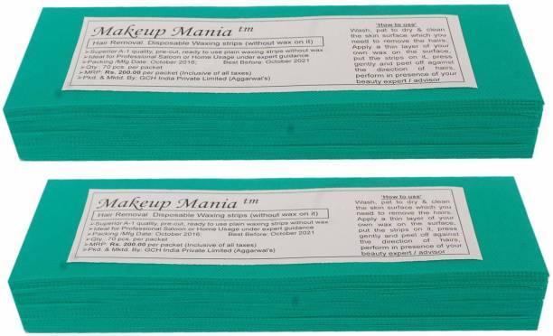 Makeup Mania Waxing Strips - Green-140 Pcs Strips