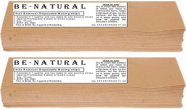 Be-Natural Waxing Strips -90GSM Strips