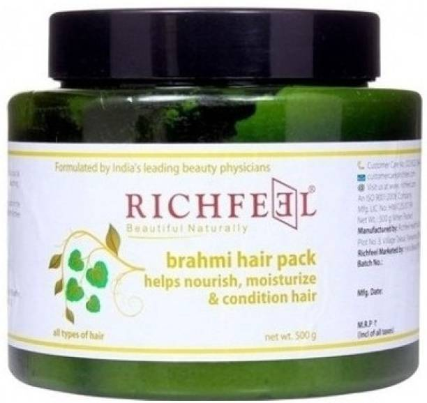RICHFEEL Brahmi Pack to Nourish, Moisture And Condition Hair