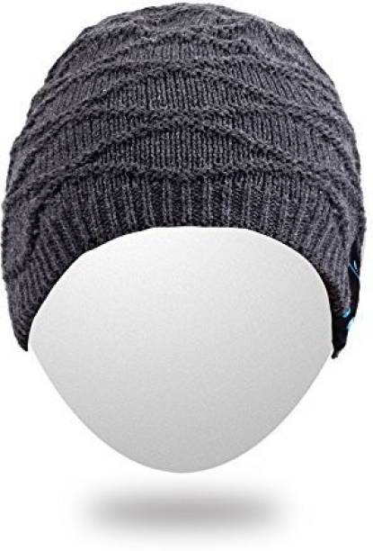 4c46b13d880 Rotibox Rechargeable Bluetooth Audio Beanie Hat Fashional Double Knit Skully  Cap W  Wireless Stereo Headphone