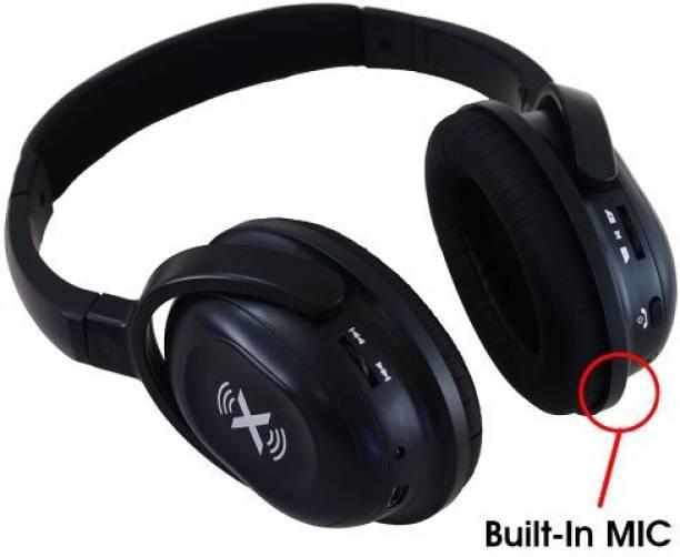 e042c315c4b Axess Hpbt-604Blk-Wireless Bluetooth Stereo Headphones With Built-In Microphones  Headphone