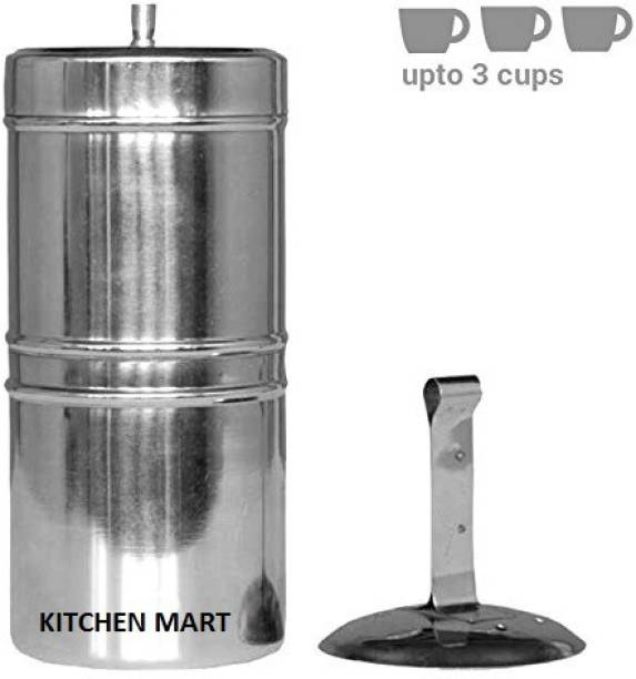 Kitchen Mart South Indian Style 3 Cups Indian Coffee Filter