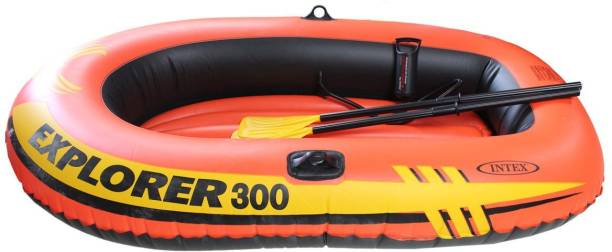 "INTEX Explorer Boat 300 For 3 Person 186KG (83"" X 46"" X 16"" ) With Oars & Pump Inflatable Swimming Pool"