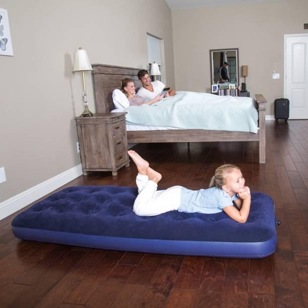 BESTWAY Karmax Flocked Air Bed(Single) PVC (Polyvinyl Chloride) 1 Seater Inflatable Sofa