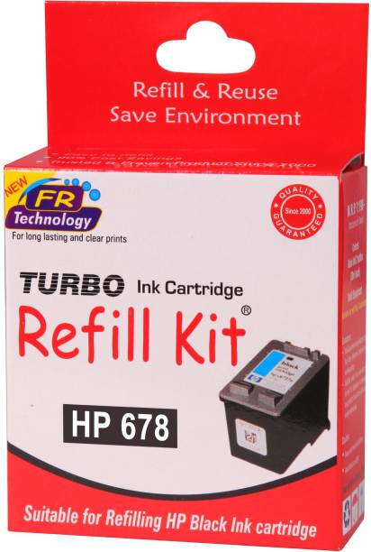 Turbo Ink Refill Kit For Hp 678 Cartridge Single Color Ink Cartridge