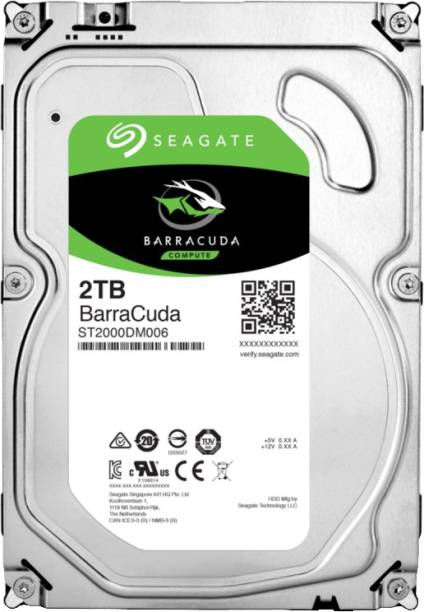 Seagate BarraCuda 2 TB Desktop, Surveillance Systems, All in One PC's, Servers Internal Hard Disk Drive (ST2000DM006)