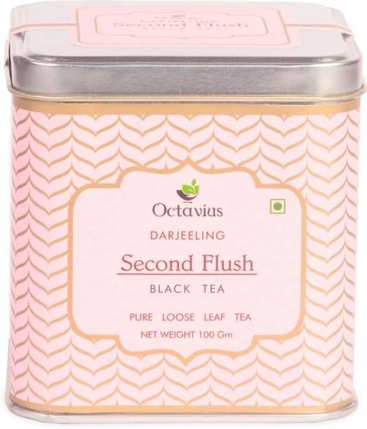 Octavius Fresh Loose Leaf Darjeeling 2nd Flush Black Tea Black Tea Tin