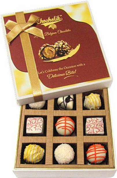 Chocholik 9pc Ultimate Assorted Collection Of Chocolate Truffles