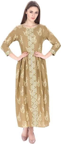 d8ee31ab5a5 Natty India Women s Maxi Beige Dress