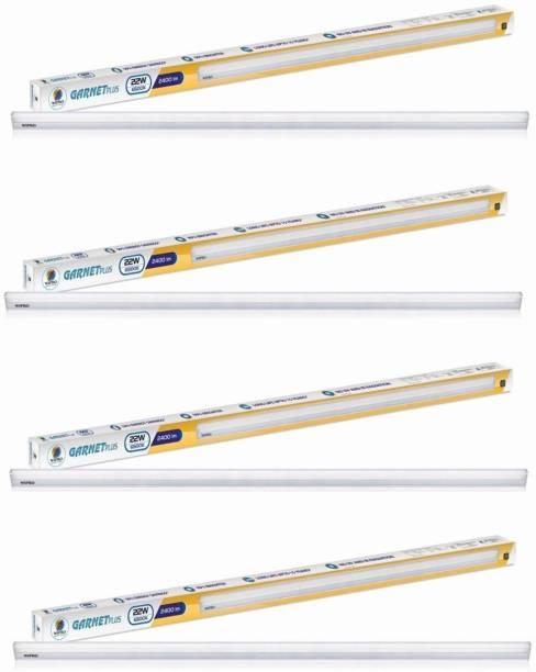 WIPRO 22-watt 4 Feet Led Batten Light (cool Day Light) - Pack Of 4 Straight Linear LED Tube Light