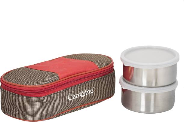 Carrolite Century Red-Brown 2 Containers Lunch Box