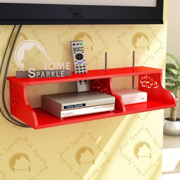 HOME SPARKLE Carved Wall Shelf MDF (Medium Density Fiber) Wall Shelf