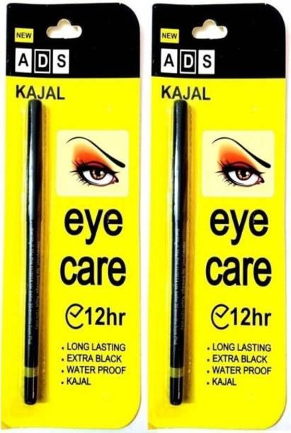 Garry's ADS Waterproof Jet Black Eye Kajal 12Hr Pack of two