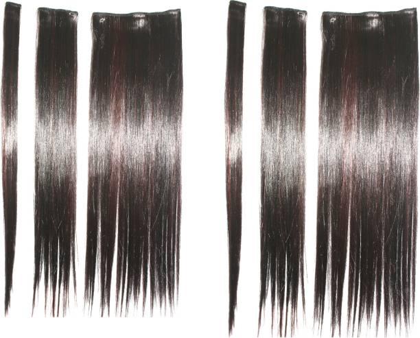 Ritzkart 6pc multi strait extension silky &natural feeling highlighting Hair Extension